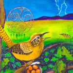 Wren-Dawn's-Herald-Spirit-Animal-painting-by-Judith-Shaw