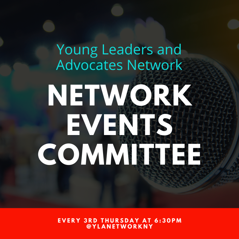 YLAN Network Events Committee every third Thursday at 6:30