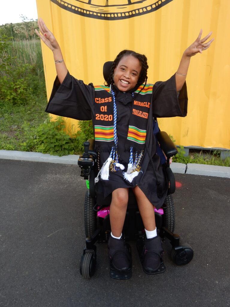 trina wearing graduation gown
