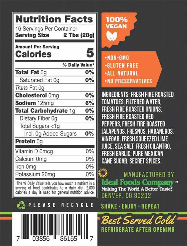 Blend Salsa - Ruby Red Habanero Salsa HOT Ingredients