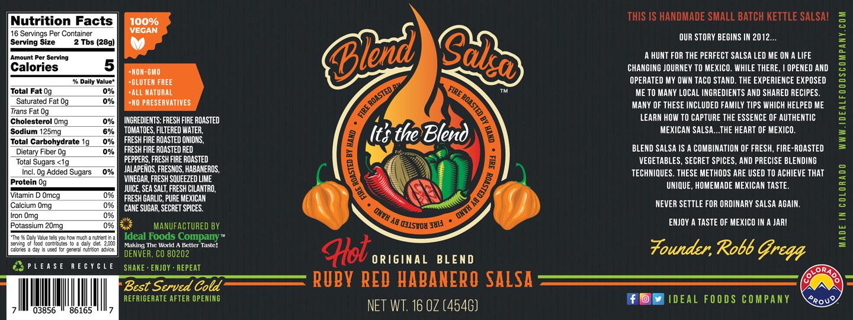 Blend Salsa - Ruby Red Habanero Salsa HOT