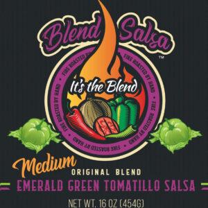 Blend Salsa - Emerald Green Tomatillo Salsa Medium