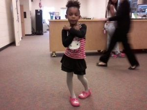 Source: www.wsbradio.com. The six-year-old Georgia girl wearing the outfit she was shamed for.