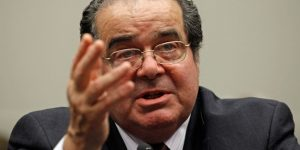 Associate Justice Antonin Scalia testifies before the House Judiciary Committee's Commercial and Administrative Law Subcommittee on Capitol Hill May 20, 2010