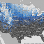 Chance of snow map