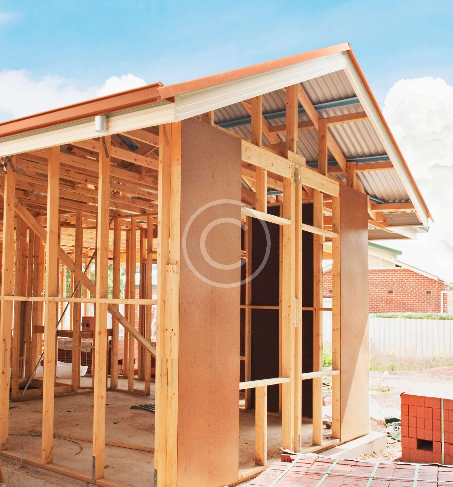 Construction of Home in Progress