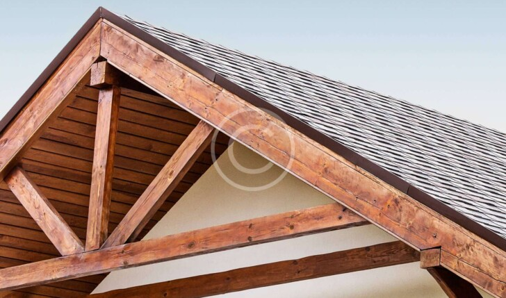 Stock Photo of Roof with Shingles
