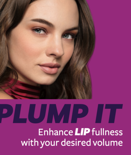 lip plump with dermal fillers