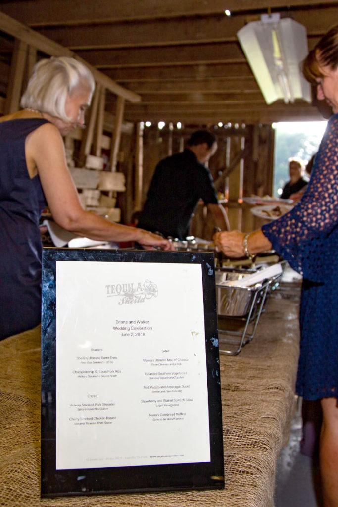 Tequila Sheila catering a wedding buffet