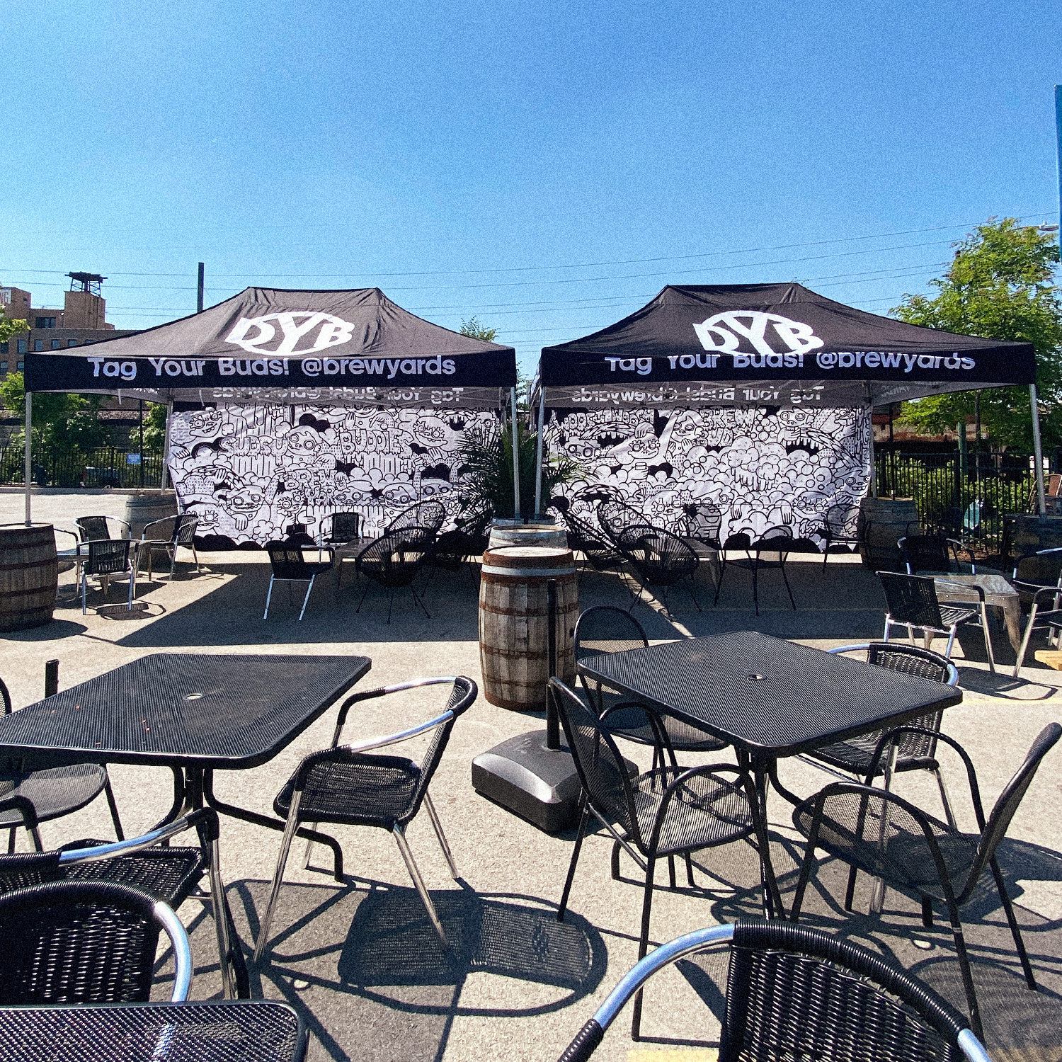 Beer Cabanas for rent on the DBY patio