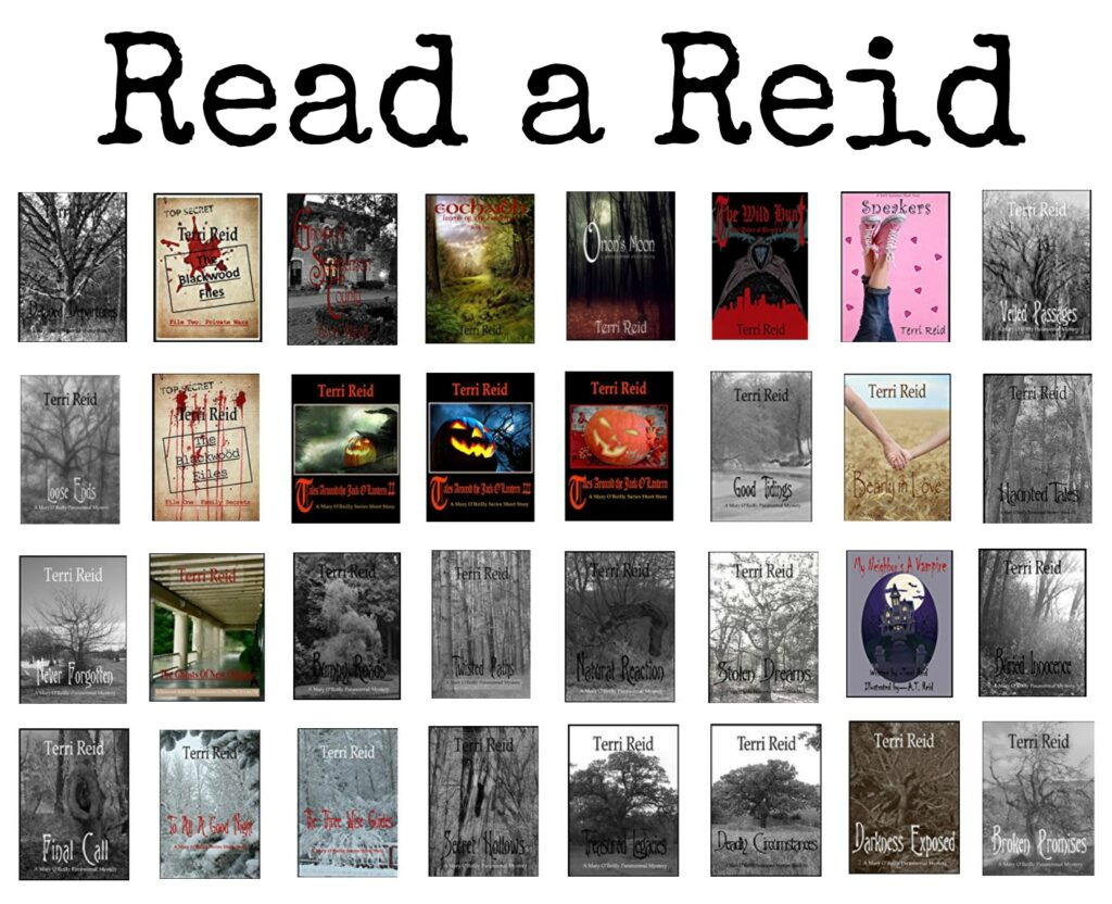 A collection of paranormal, mystery, romance, and ghost story books by author Terri Reid