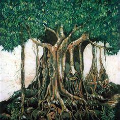 taotaomona in trees in jungle
