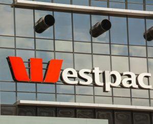 Westpac signage on a glassbuilding