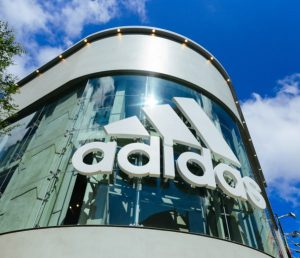 Adidas Logo on a building