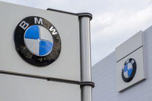 Pylon logo of the brand BMW