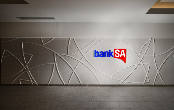 Large Bank SA wall panel