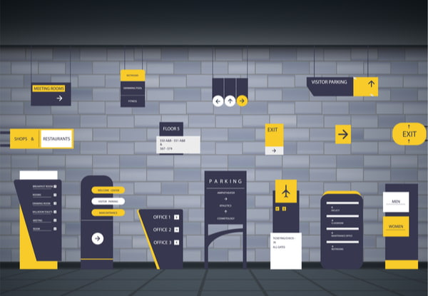 A set of signboards for business