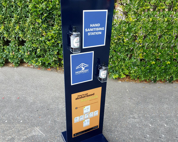 Hand Sanitising Station Stand outside