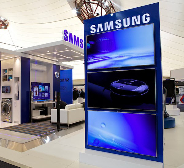 Samsung signage inside a mall