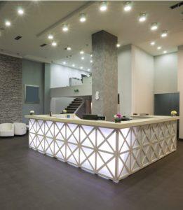 Modern reception of a hotel