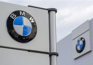 Pylon sign of BMW Logo