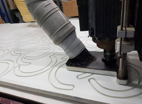 Flatbed CNC Machine Working