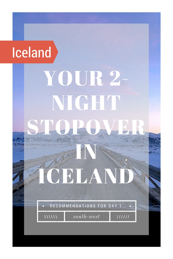 What to on a 2-Night Stopover in Iceland, with IcelandAir's stopover program. What to see and do with 48 hours in Iceland. This is Day 1 of 2! #iceland #visiticeland #icelandtravel #icelanditinerary #geysers #glaciers #icelandglacier #icelandhotsprings #secretlagoon #frozenwaterfall