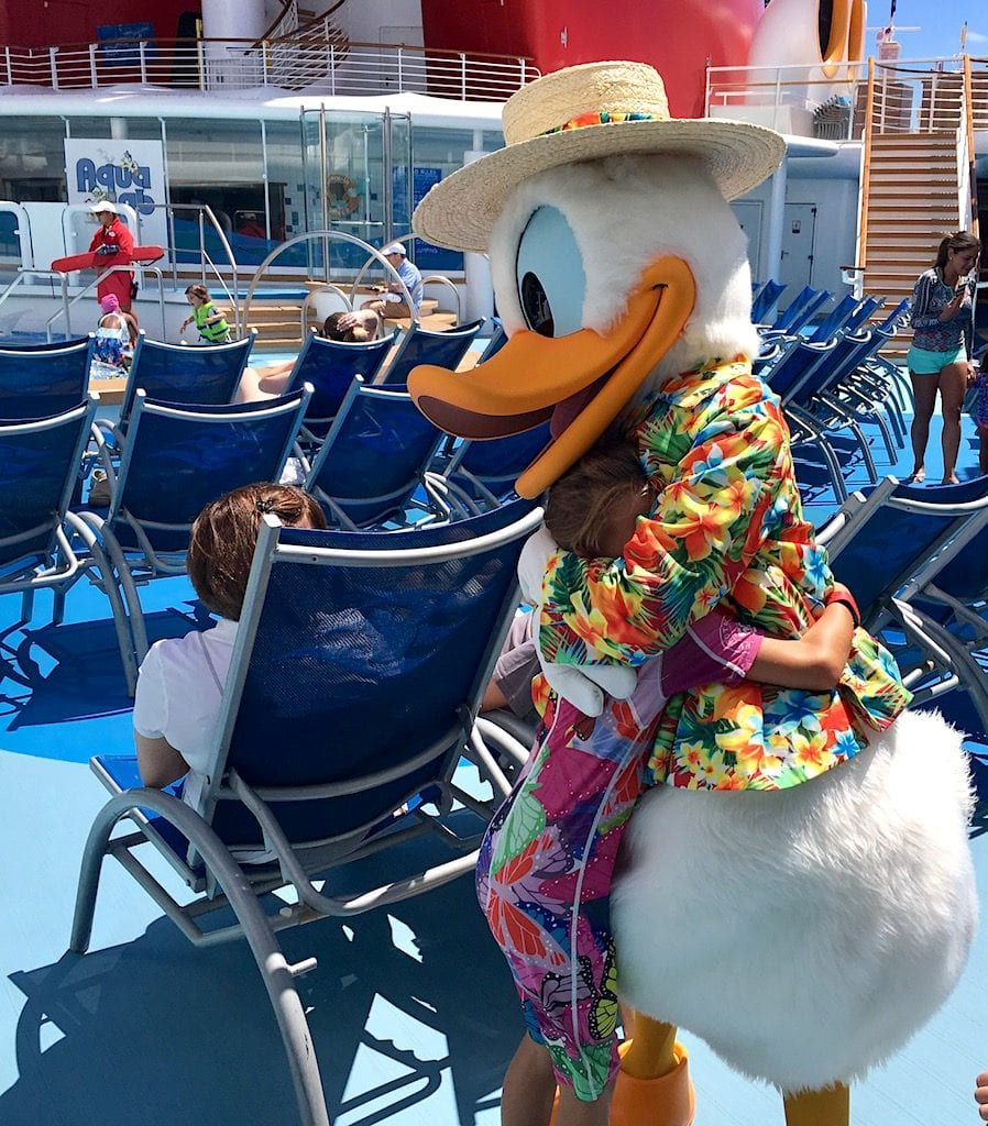 Donald Duck at the Pool