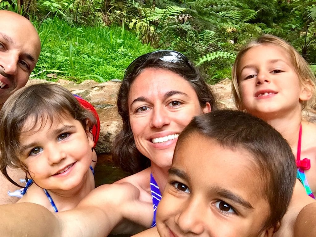 Family at Caldeira Vehla, Azores