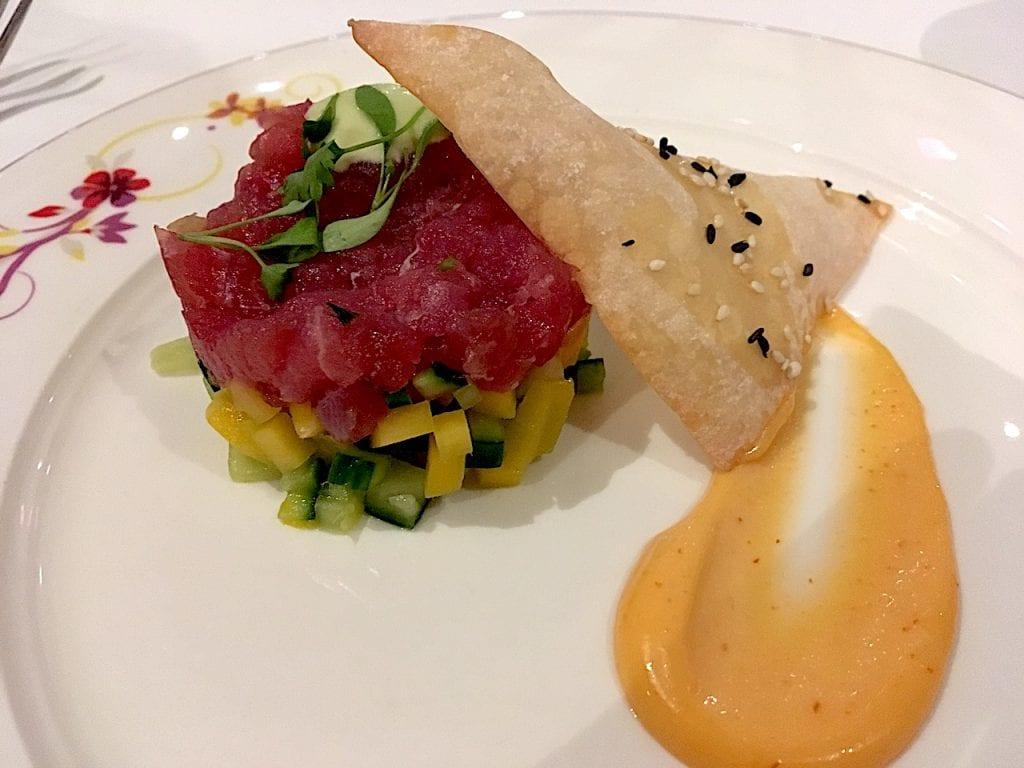 Food on board cruise ships