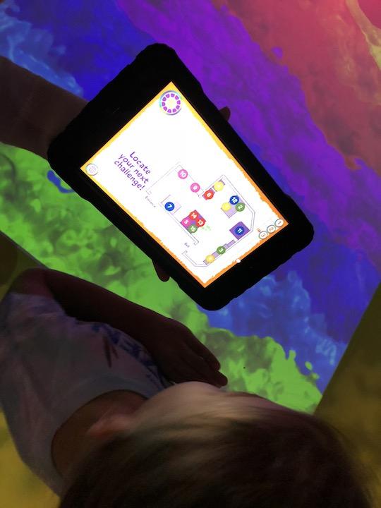Tablet in Adventure Lab