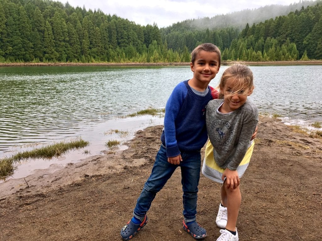 Lago do Canario with kids, Azores