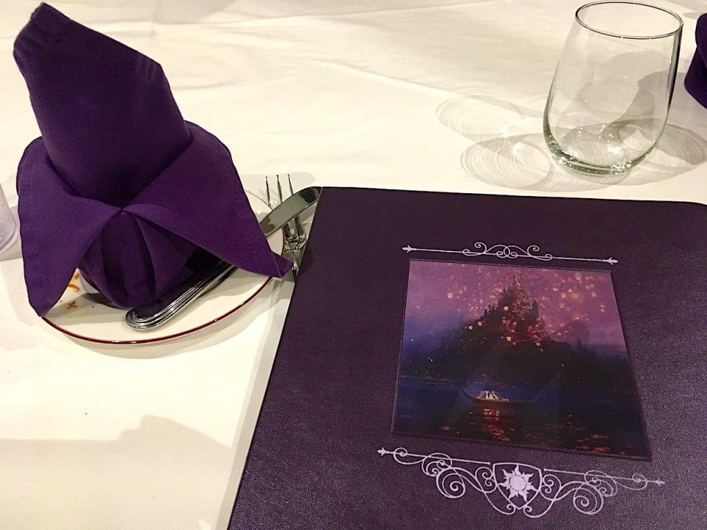 Rapunzel's Royal Table Menu