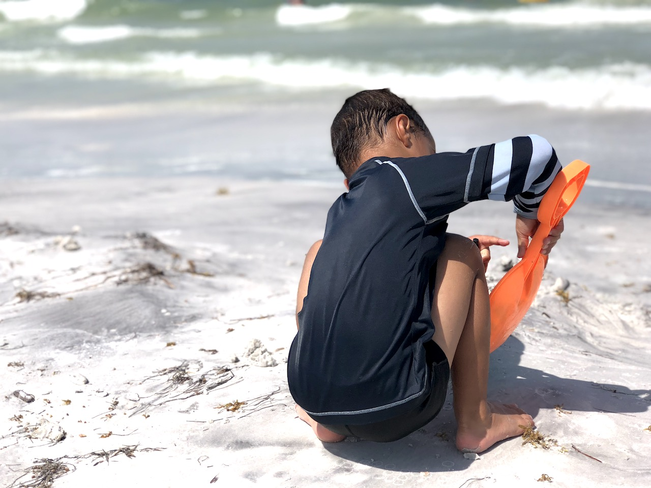 Fort de Soto Beach, a day trip from Orlando, is the perfect beach for families with children