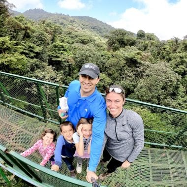 Zip Lining and Hanging Bridges with Kids in Monteverde, Costa Rica | Zip lining with kids | Selvatura Adventure Park | Costa Rica with kids | Suspension bridges | #costarica #costaricawithkids #suspensionbridges #ziplining #zipliningwithkids #costaricazipline