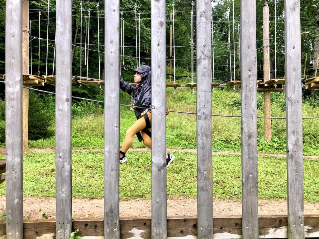 Sigulda Tarzan: Thrilling Family Day Trip Near Riga, Latvia | Adventure park in Latvia | Largest tree top obstacle course in the Baltics | Adventure park in the Baltics | Longest zip line in the Baltics | Zip lining Latvia | Riga road trips with kids | What to do in Riga with kids | #latvia #latviatravel #riga #baltictravel #adventurecourse #rigadaytrip #familytravel