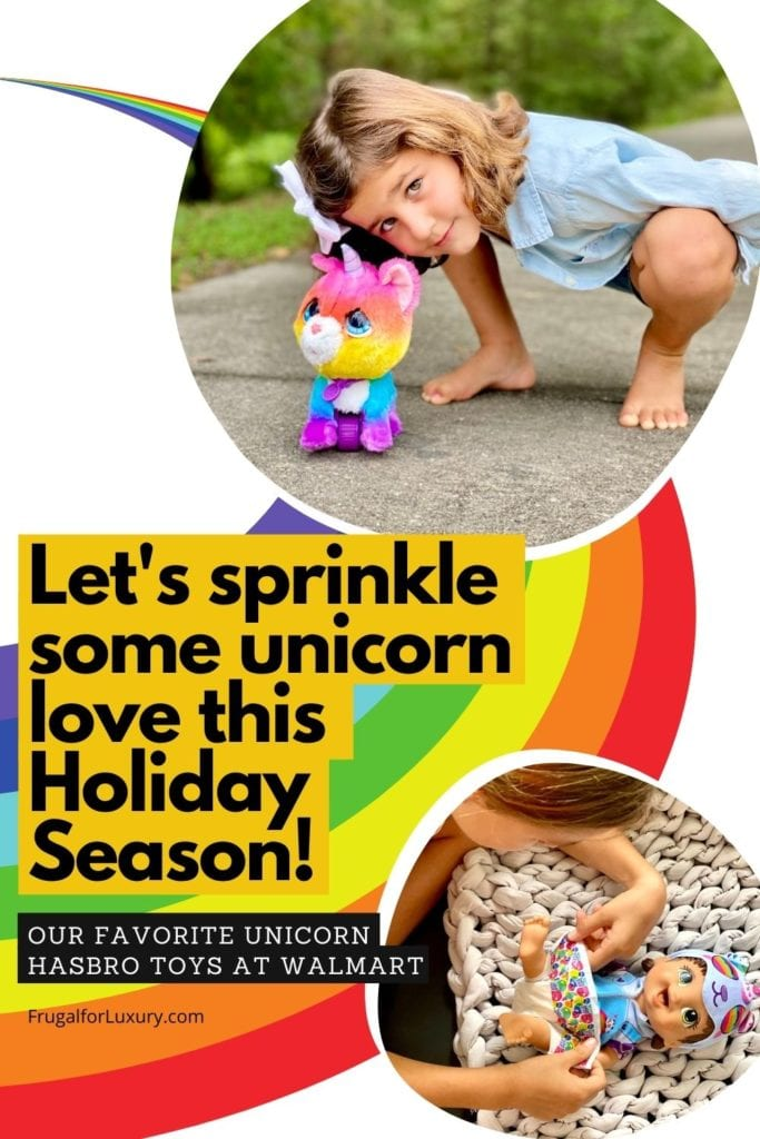 Sprinkle Unicorn Love With Unicorn Dolls At Walmart | Unicorn presents 2020 #ad | Walking unicorn toy with leash | Hasbro toys | Best unicorn toys at Walmart | Christmas gifts for girls |  #hasbro #FurReal #christmas #unicorn #unicorntoys #toysforgirls #besttoysforgirls #unicorndolls #walmarttoys #hasbrotoys