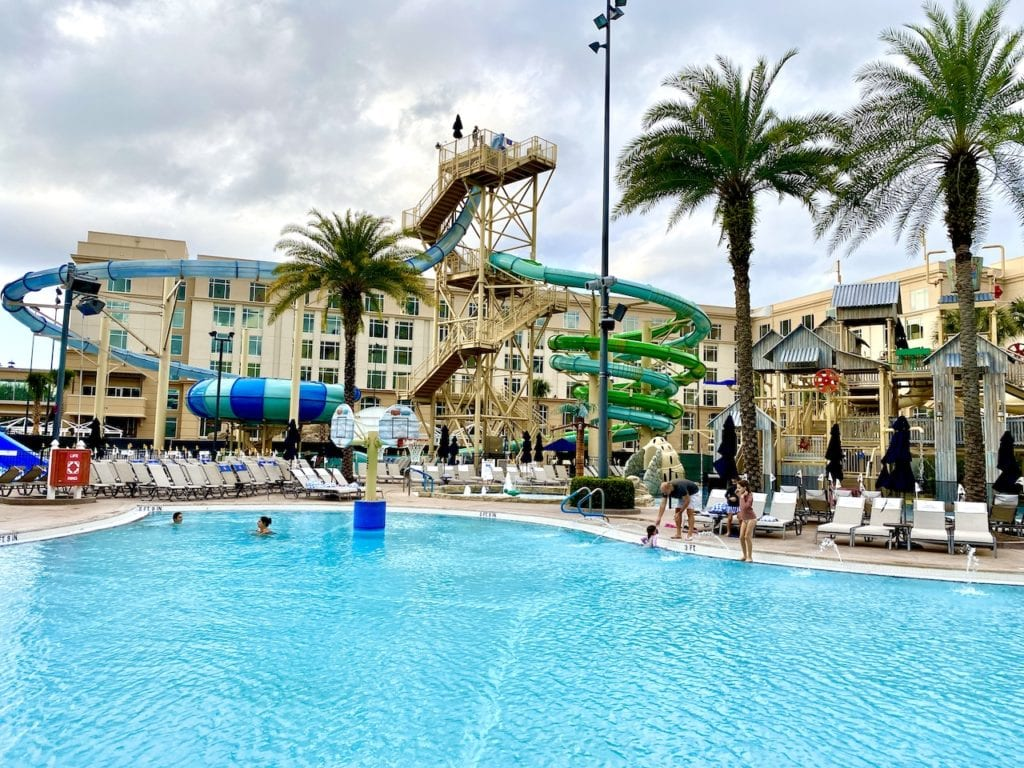 Gaylord Palms pools slides