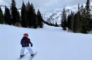 Skiing with children at Alta Ski Resort