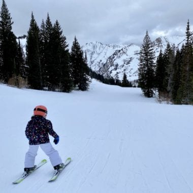 Skiing with children at Alta Ski Resort