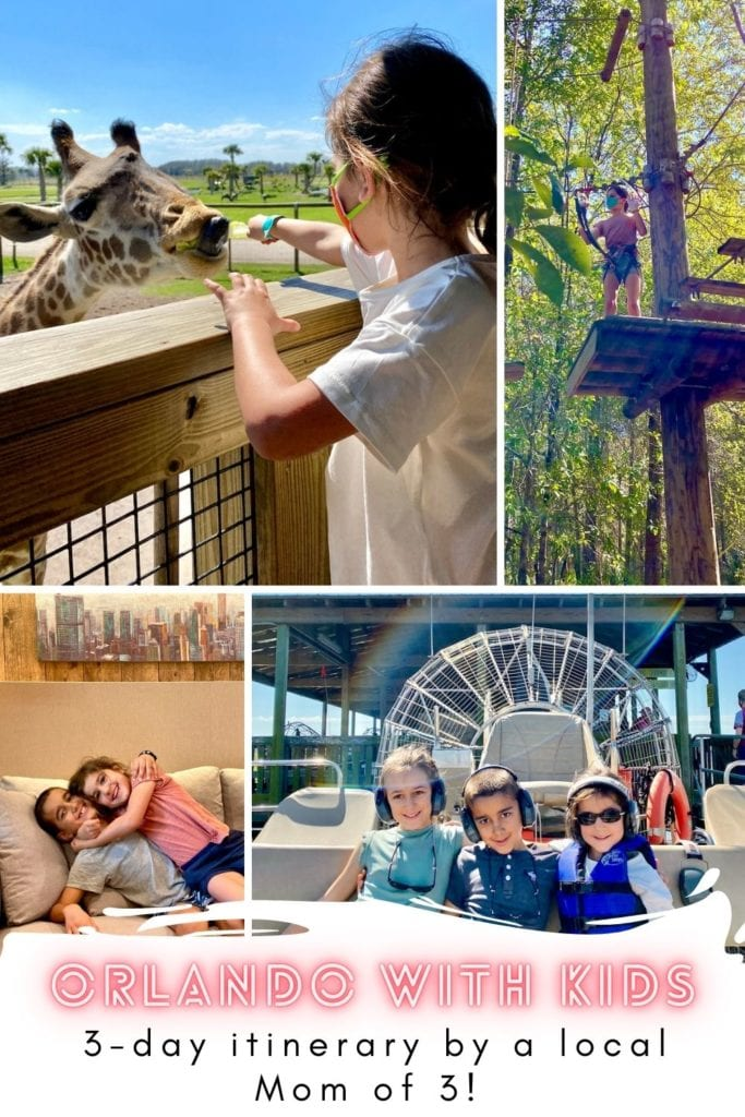 What To Do In Orlando With Kids - A 3-Day Itinerary For The Perfect Family Getaway | Visit Orlando | Orlando with kids | What to do in Orlando besides the theme parks | Gatorland Orlando | Orlando Tree Trek Adventure Park | Where to see alligators in Orlando | Wild Florida | Where to ride airboats in Orlando | #visitorlando #hosted #wildflorida #loveorlando #gatorland #treetrek #orlandotreetrek #orlandowithkids