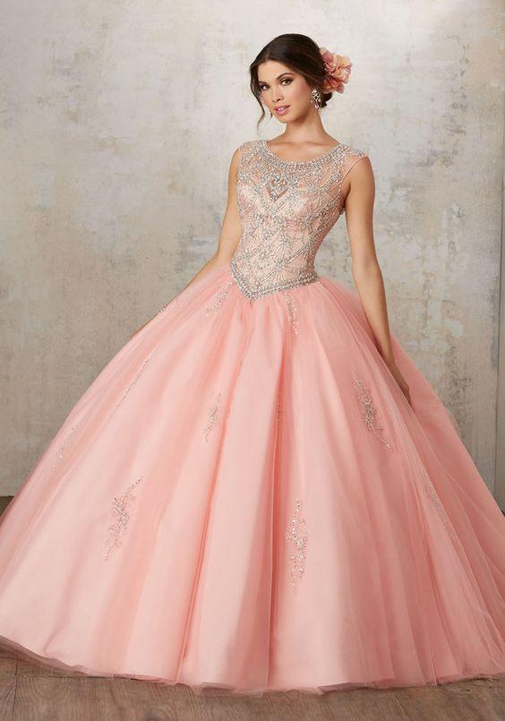 vestidos color de rosa