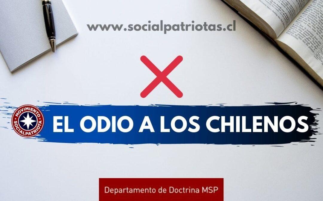 «El odio a los Chilenos»