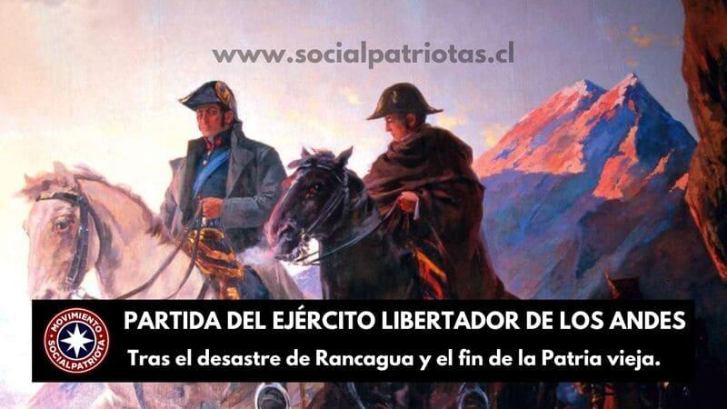 21 de Enero. Partida del Ejército Libertador de Los Andes