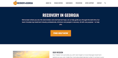 Recovery in Georgia Home Page