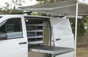 VQuip - Van Transforming Vehicles | Service Van - Slide Out Workbench