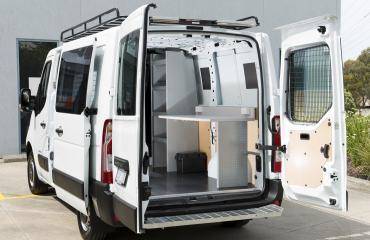 VQuip - Transforming Van Vehicles | Linktech - Cable Splicing Van
