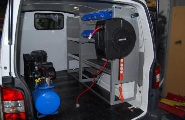 VQuip - Transforming Van Vehicles | Service Van - Compressor