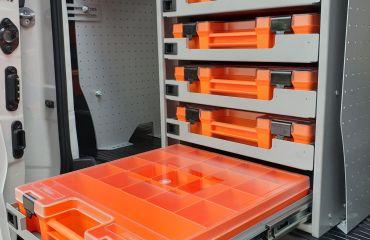 VQuip - Transforming Vehicles | Technician Van-5 Carry Case Storage Unit