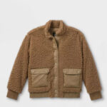 Girls' Sherpa Bomber Jacket
